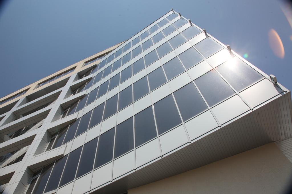 Фото красивых панорамных окон - фасадов зданий